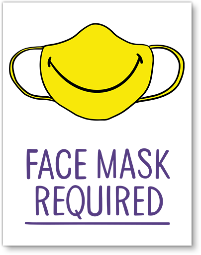 FACE MASK REQUIRED - Social Distancing Sign